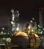 Petrochemical plant on night Stock Photography