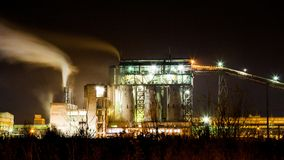 Petrochemical plant in night Royalty Free Stock Photography