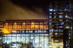 Petrochemical plant in night Stock Image
