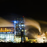 Petrochemical plant in night Stock Photos