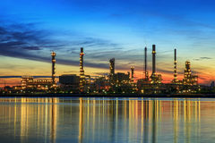 Petrochemical plant in night time Stock Photos