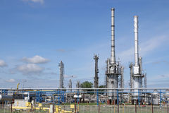 Petrochemical plant oil industry Royalty Free Stock Photos