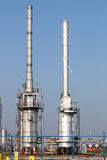 Petrochemical plant oil industry Royalty Free Stock Image