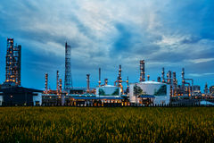 Petrochemical plant ( oil refinery ) industry Royalty Free Stock Photo
