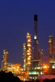 Petrochemical plant oil refinery at twilight Stock Images