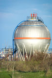 Petrochemical plant oil tanks Royalty Free Stock Photos