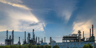 Petrochemical plant  panorama Royalty Free Stock Photos