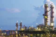 Petrochemical plant. With twilight time Stock Photography
