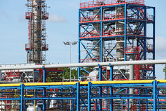 Petrochemical plant pipelines Stock Photo