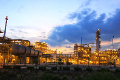 Petrochemical plant. Petrochemical power plant at twilight time Royalty Free Stock Photography
