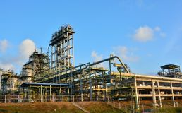 Petrochemical plant. And  sky background in Thailand Royalty Free Stock Photo