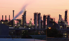 Petrochemical plant in sunset Stock Photo