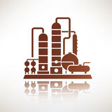 Petrochemical plant symbol, refinery Royalty Free Stock Images