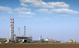 Petrochemical plant and tanks Stock Image
