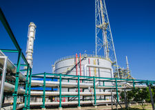 Petrochemical plant in Thailand Stock Photo