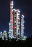 Petrochemical plant. At twilight Royalty Free Stock Photo