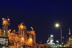 Petrochemical plant in twilight Stock Images