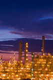 Petrochemical plant in the twilight Stock Photo