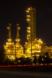 Petrochemical plant at twilight Stock Photo