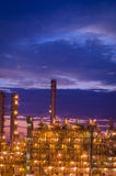 Petrochemical plant in the twilight time Stock Photo