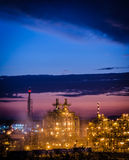 Petrochemical plant in the twilight time Royalty Free Stock Photography
