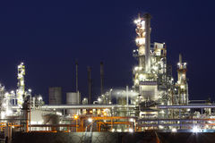 Petrochemical plant at twiligth Stock Photo