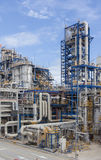 Petrochemical plant wit blue sky Royalty Free Stock Images