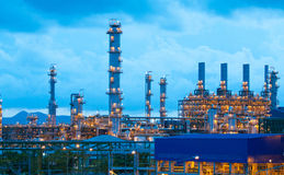 Petrochemical plants in the evening scenery  Royalty Free Stock Photography