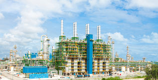 Petrochemical  polyethylene plants Stock Image