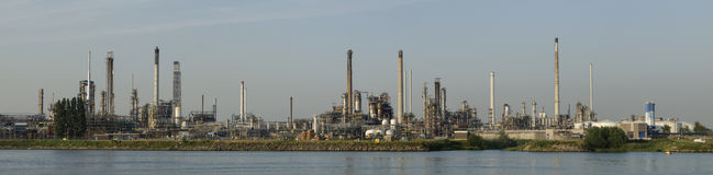 Petrochemical refinery in Botlek, Rotterdam. Panorama of a Petrochemical refinery in Botlek, Rotterdam Royalty Free Stock Photography