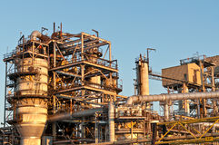 Petrochemical Refinery in the Evening Royalty Free Stock Image
