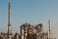 Petrochemical Refinery Plant Royalty Free Stock Images