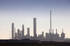 Petrochemical refinery skyline Stock Photos