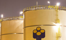Petrochemical-tanks Stock Images