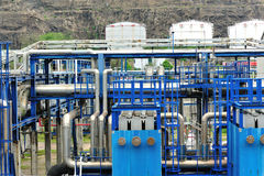 Petrol storage and pipeline Royalty Free Stock Images