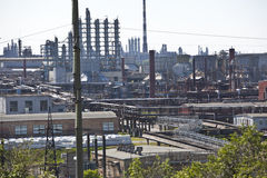 petrochemicalväxt Royaltyfria Foton