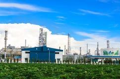 Petrochemicalväxt Arkivbild