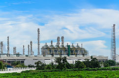 Petrochemicalväxt Royaltyfria Bilder