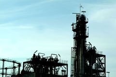 petrochemicalväxt arkivfoto