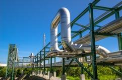 Petrochemicalväxt i Thailand Royaltyfri Bild
