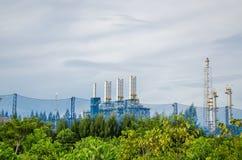 Petrochemicalväxt i Thailand Arkivfoton