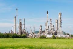 Petrochemicznego przemysłu elektrownia w popołudniu Tajlandia Obraz Stock