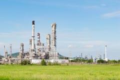Petrochemicznego przemysłu elektrownia w popołudniu Tajlandia Obrazy Royalty Free