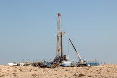 Petrochemiczni udostępnienia w pustyni Fotografia Royalty Free