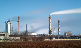 Petrochemiczny przemysł - Długi ujawnienie obraz royalty free