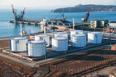 petrochemiczny terminal Obrazy Royalty Free