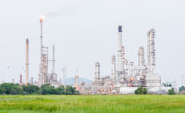 Petrochemische bedrijfkrachtcentrale Stock Foto's