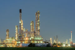 Petrochemische bedrijfkrachtcentrale Royalty-vrije Stock Fotografie