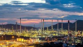 Petrochemische de fabrieksinstallatie Thailand van de olieraffinaderij royalty-vrije stock foto