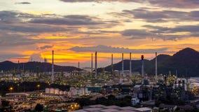 petrochemische de fabrieksinstallatie van de olieraffinaderij stock afbeeldingen